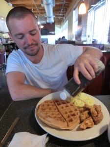 Waffles for breakfast.