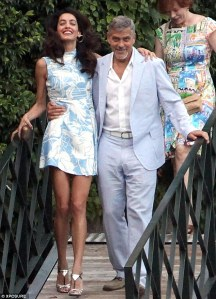 Amal dress and george