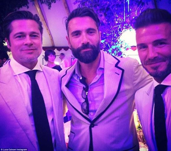 Brad Pitt_Luca Calvani_David Beckham_Source Luca Calvani Instagram