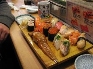Sashimi The Lot. We left the eel.